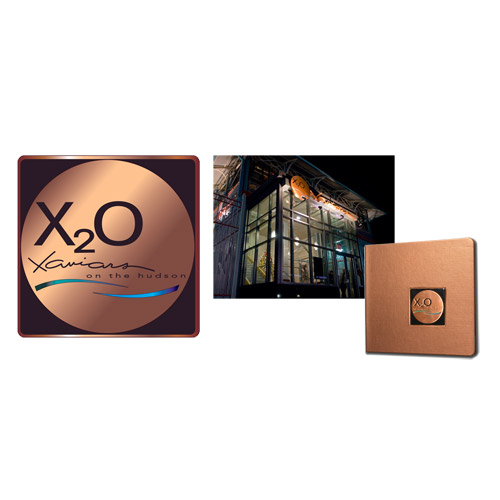 Logo, branding, signage, menus, etc. for Restaurant X20, the newest restaurant in the Xaviars Restaurant Group.