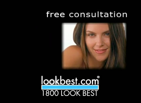 Branding, logo design, web site, print ads, TV spots, and radio spots for 1.800.LOOKBEST, a national network of plastic surgeons.